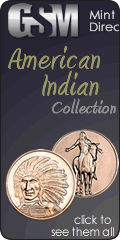 American Indian copper coin collection