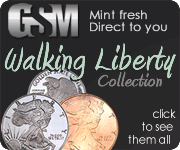 Walking Liberty collection of silver and copper coins